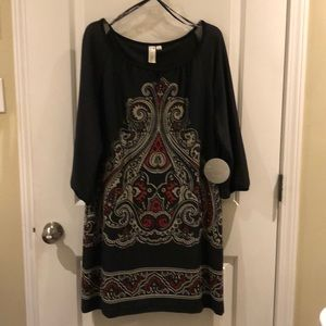 Medallion print knit dress NWT